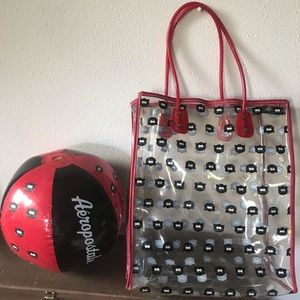Aeropostale Beach Tote and Ball
